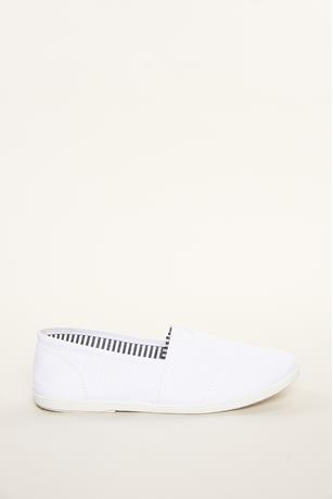 Canvas Slip-Ons WHITE