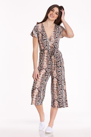 Surplice Print Jumpsuit MULTI