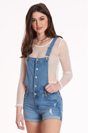 Celebrity Pink Denim Overall MED WASH