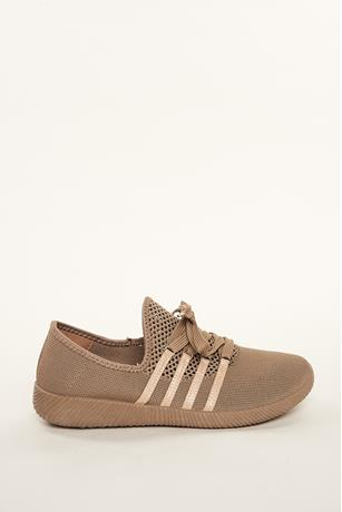Contrast Mesh Sneakers TAUPE