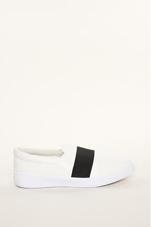 Contrast Band Slip Ons
