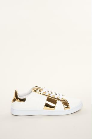 Metallic Stripe Sneaker GOLD