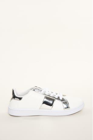 Metallic Stripe Sneaker SILVER
