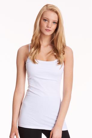 Basic Knit Cami WHITE