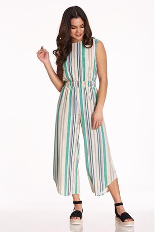 Uneven Wide-Leg Jumpsuit GREEN
