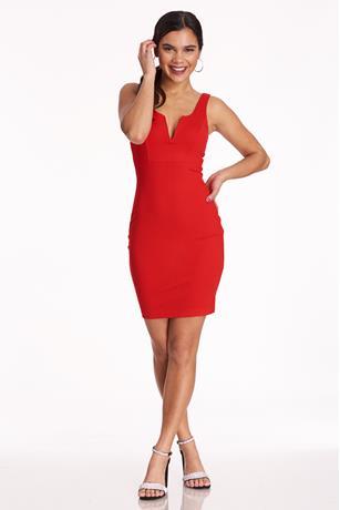 Ponte Midi Tank Dress RED