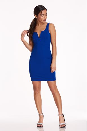 Ponte Midi Tank Dress ROYAL