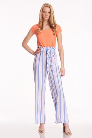 Brushed Paperbag Waist Jumpsuit CORAL