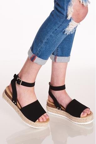 Wrapped Espadrille Platform Sandals