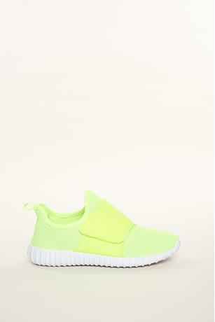 Neon Mesh Athletic Sneakers LIME GREEN