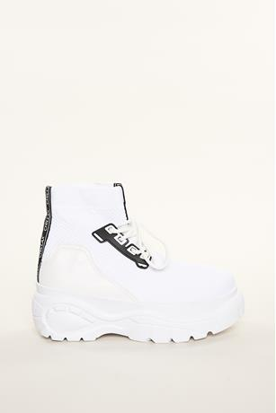 Mesh High-Top Sneakers WHITE