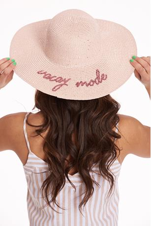 Sequin Vacay Mode Floppy Hat BLUSH