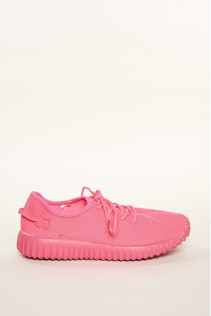 Neon Mesh Sneakers NEON PINK