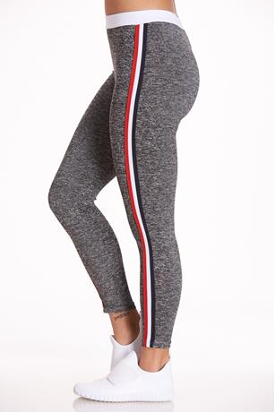 Striped Active Leggings GRAY