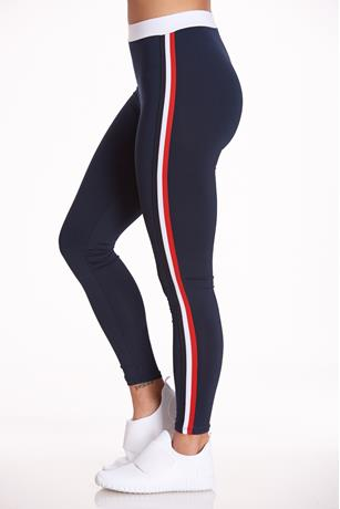 Striped Active Leggings NAVY