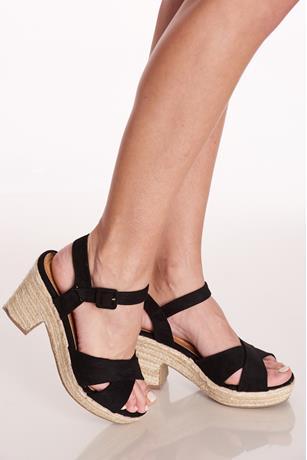 Espadrille Block Heels