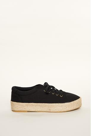 Canvas Espadrille Sneakers BLACK
