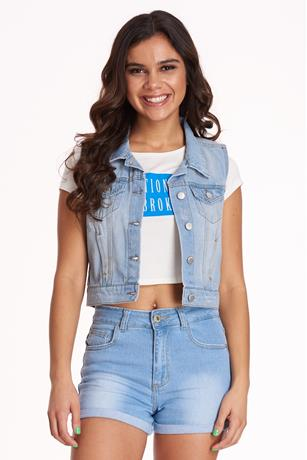 Denim Vest MED WASH