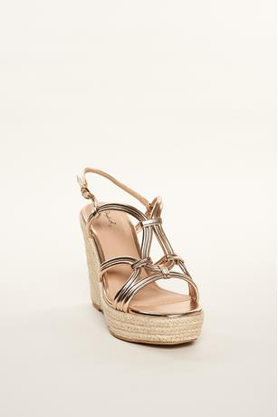 Metallic Espadrille Wedges GOLD