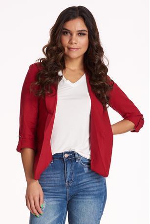 Linen Blazer RED