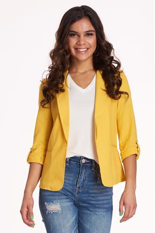 Linen Blazer YELLOW