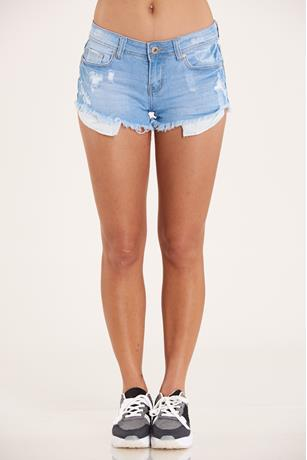 Frayed Hem Shorts