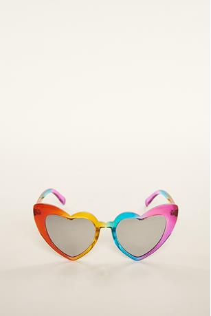 Rainbow Heart Sunglasses ASSORTED