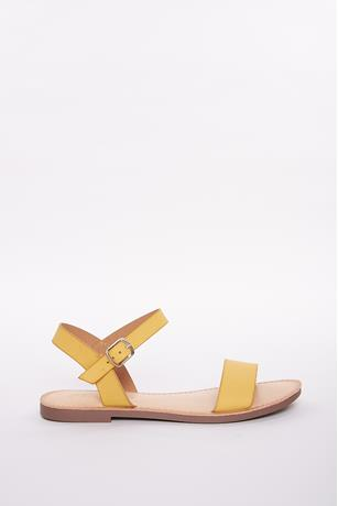 Buckle Open Toe Sandals MUSTARD