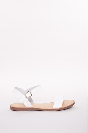 Buckle Open Toe Sandals WHITE