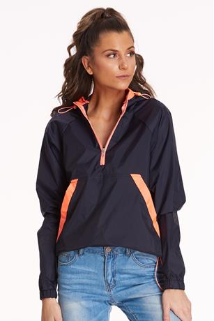 Neon Colorblock Windbreaker