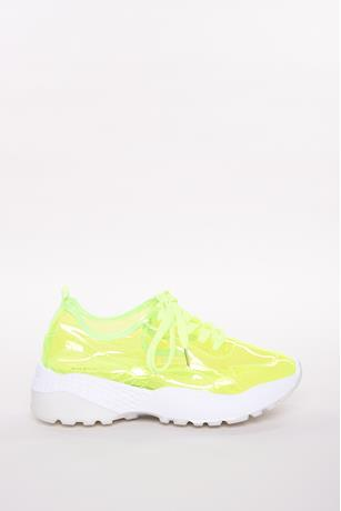 Transparent Sneakers LIME GREEN