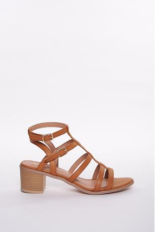Cage Open Toe Sandals TAN
