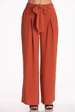 Flare Self-Tie Pants
