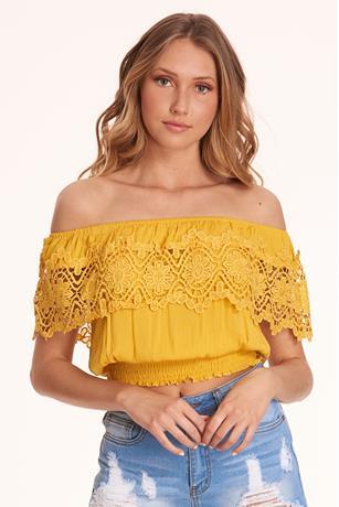 Crochet Flounce Top