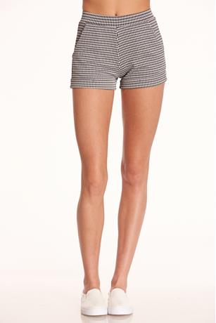 Houndstooth High-Rise Shorts