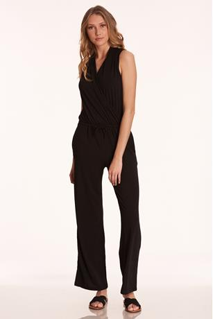 Sleeveless Wide-Leg Jumpsuit BLACK