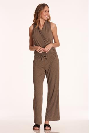 Sleeveless Wide-Leg Jumpsuit BROWN