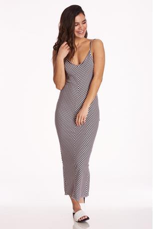 Striped Maxi Dress ROSE