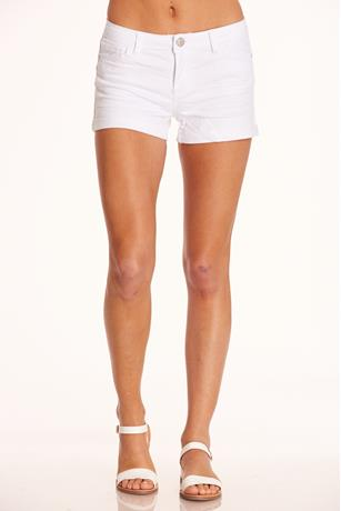 Hot Kiss White Shorts WHITE
