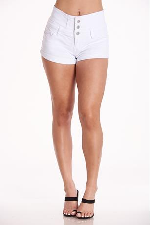 Hot Kiss High-Rise Shorts WHITE