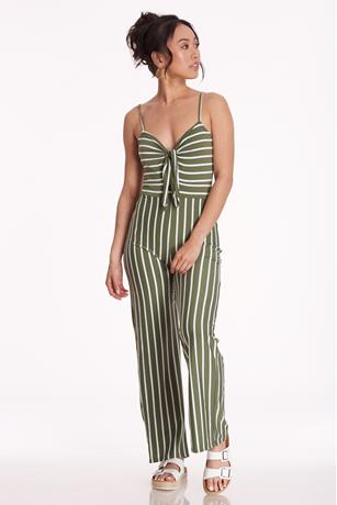 Striped Cutout Cami Jumpsuit