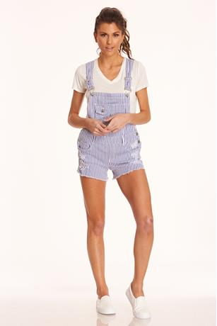 Stripe Shortalls DENIM