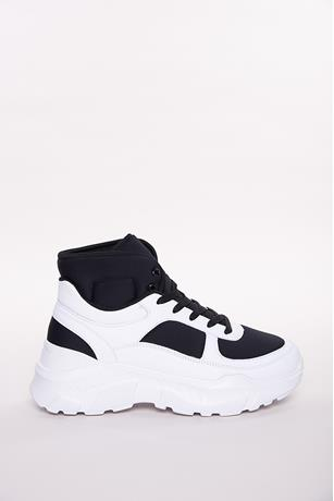 High-Top Colorblock Sneakers BLACK
