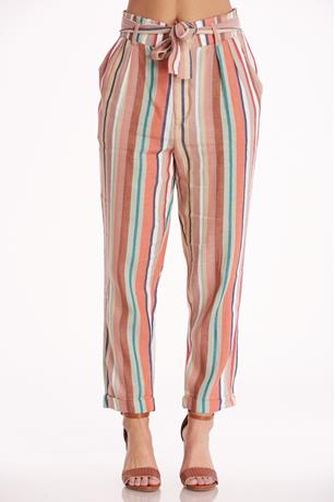 Multicolor Paperbag Pants