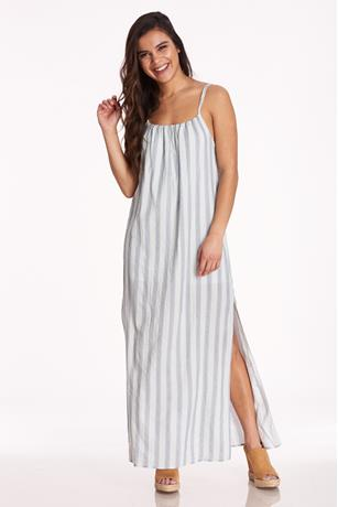 Striped Cami Maxi Dress JADE