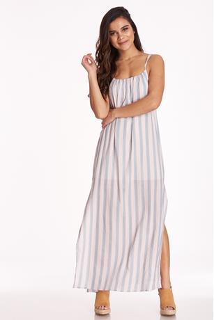Striped Cami Maxi Dress MAUVE