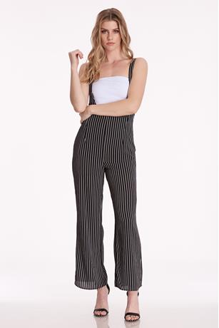 Striped Suspender Jumpsuit