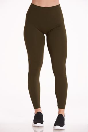 Ribbed Seamless Leggings OLIVE