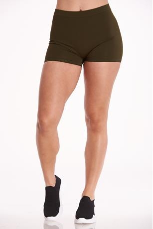 Ribbed Seamless Bike Shorts OLIVE