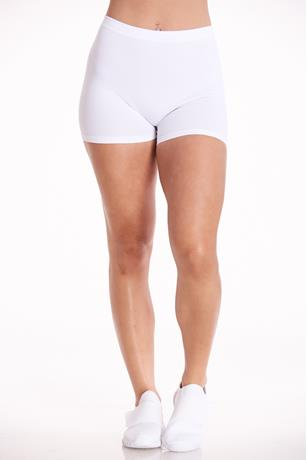 Ribbed Seamless Bike Shorts WHITE